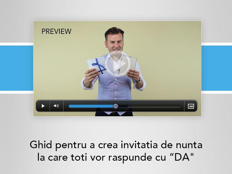 WEDDING MASTERY - MAC Florea - Preview Ghid pentru a crea invitatia de nunta la care toti vor raspunde cu DA