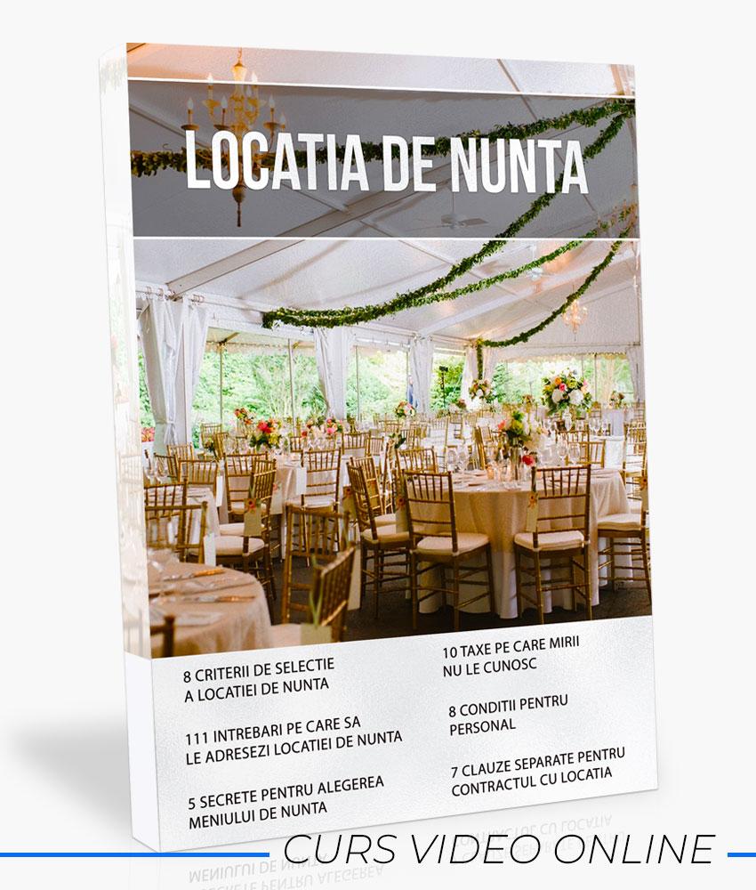 WEDDING MASTERY - Locatia de nunta