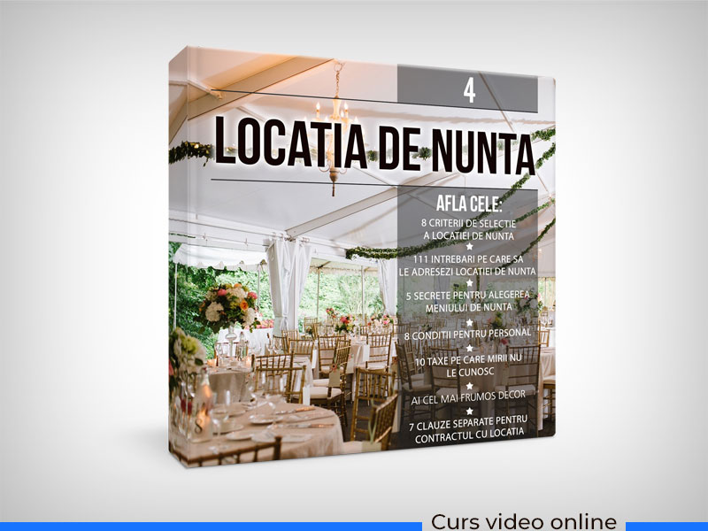 WEDDING MASTERY - Locatia de nunta